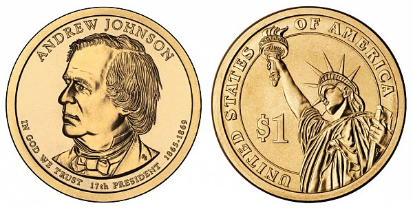 2011 P Andrew Johnson Presidential Dollar Coin