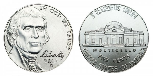 2011 D Jefferson Nickel