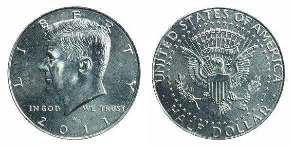2011 D Kennedy Half Dollar