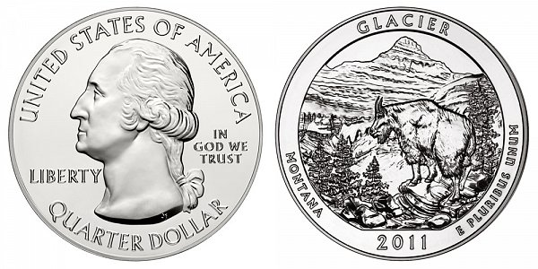 2011 Glacier 5 Ounce Bullion Coin - 5 oz Silver