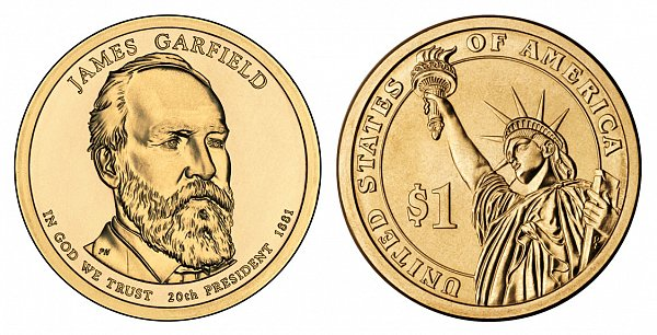 2011 P James A. Garfield Presidential Dollar Coin