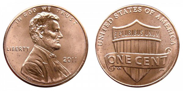 2011 Lincoln Shield Cent Penny