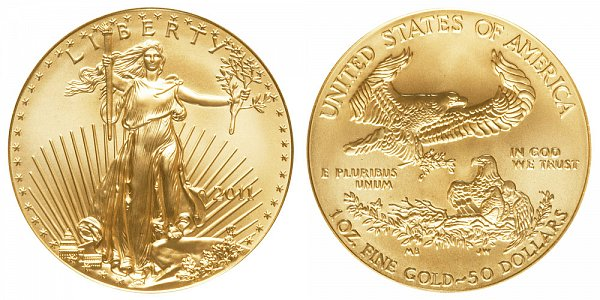 2011 One Ounce American Gold Eagle - 1 oz Gold $50