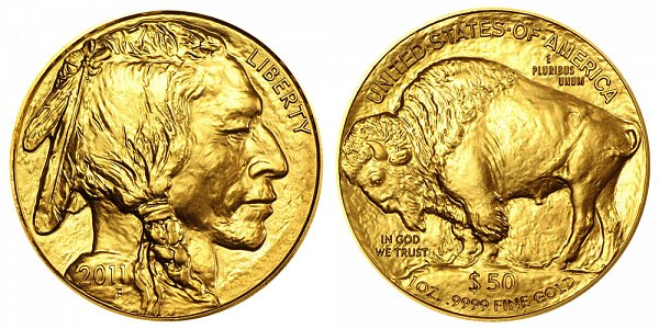 2011 One Ounce Gold American Buffalo - 1 oz Gold $50