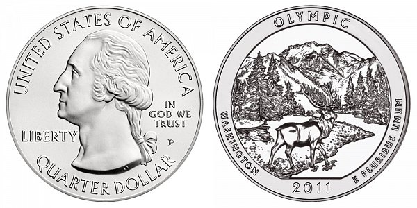 2011 Olympic 5 Ounce Burnished Uncirculated Coin - 5 oz Silver