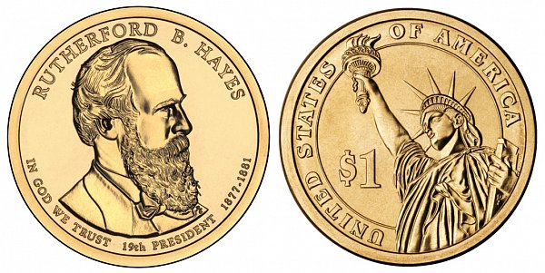 2011 P Rutherford B. Hayes Presidential Dollar Coin
