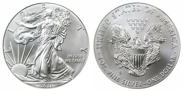 2011 S Burnished Uncirculated American Silver Eagle