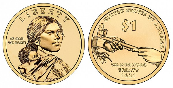 2011 D Native American Dollar Wampanoag Treaty 1621 Native