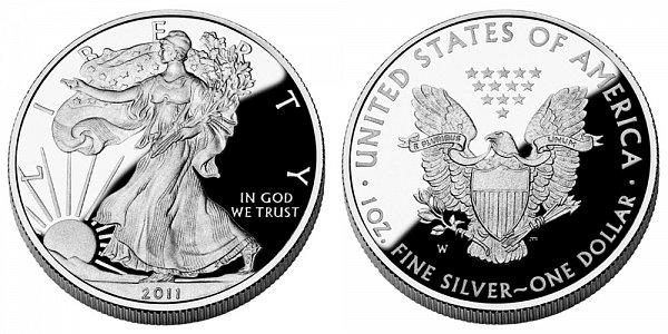 2011 W Proof American Silver Eagle