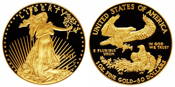 2011 W Proof One Ounce American Gold Eagle - 1 oz Gold $50