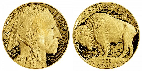 2011 W Proof One Ounce Gold American Buffalo - 1 oz Gold $50