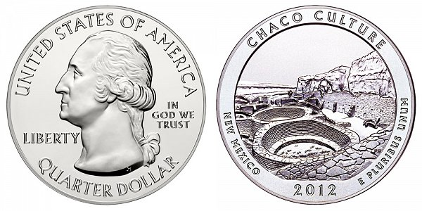 2012 Chaco Culture 5 Ounce Bullion Coin - 5 oz Silver