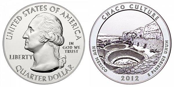2012 Chaco Culture 5 Ounce Bullion Coin - 5 oz Silver