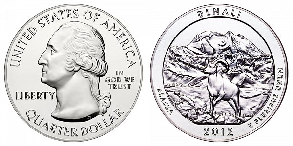 2012 Denali 5 Ounce Bullion Coin - 5 oz Silver