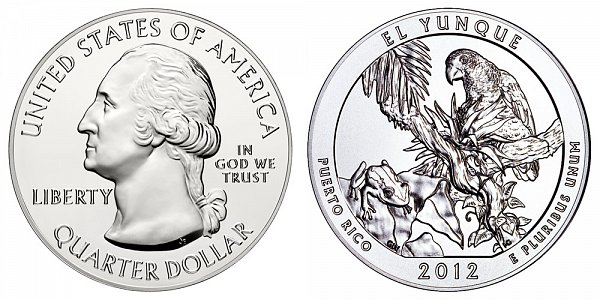 2012 El Yunque 5 Ounce Bullion Coin - 5 oz Silver