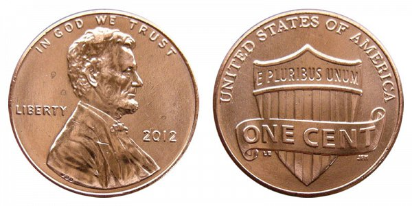 2012 Lincoln Shield Cent Penny