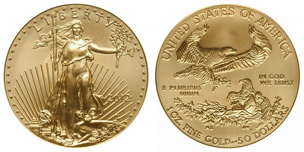 2012 One Ounce American Gold Eagle - 1 oz Gold $50