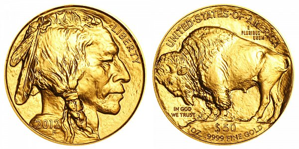 2012 One Ounce Gold American Buffalo - 1 oz Gold $50