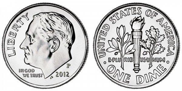 2012 P Roosevelt Dime