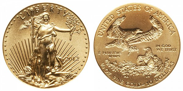2012 Quarter Ounce American Gold Eagle - 1/4 oz Gold $10