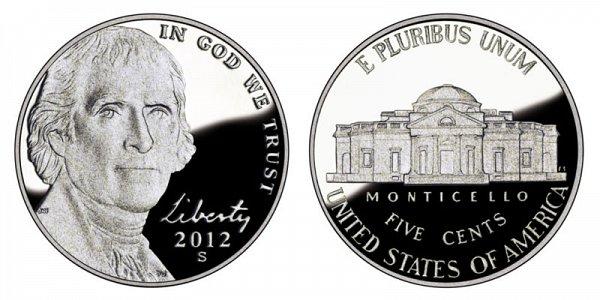 2012 S Jefferson Nickel Proof