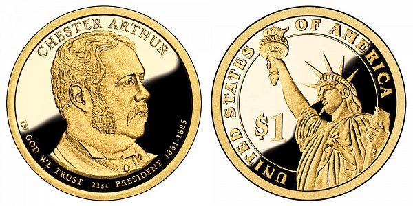 2012 S Proof Chester A. Arthur Presidential Dollar Coin
