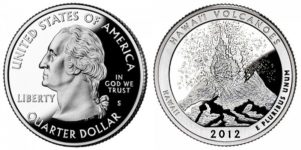 2012 S Proof Hawaii Volcanoes National Park Quarter
