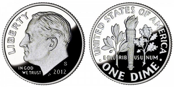 2012 S Roosevelt Dime Proof