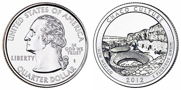 2012 S Uncirculated Chaco Culture National Historical Park Quarter - New Mexico