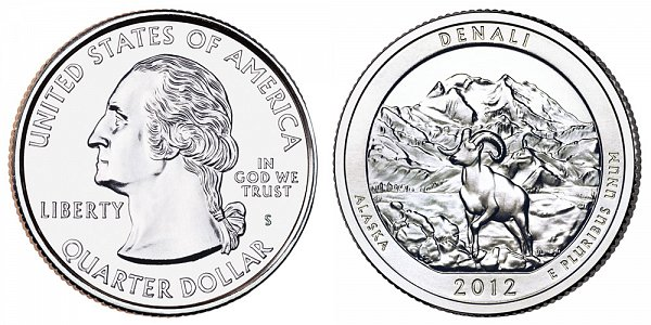 2012 S Uncirculated Denali National Park Quarter - Alaska