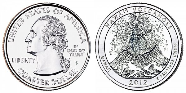 2012 S Uncirculated Hawaii Volcanoes National Park Quarter