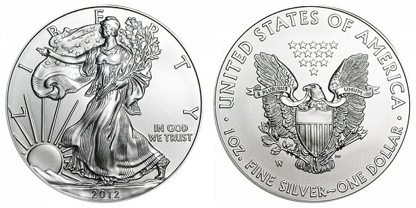 2012 W Burnished Uncirculated American Silver Eagle