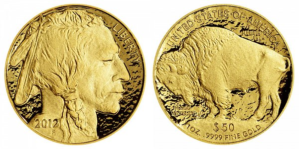 2012 W Proof One Ounce Gold American Buffalo - 1 oz Gold $50