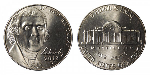 2013 D Jefferson Nickel