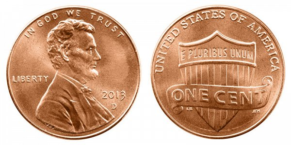 2013 D Lincoln Shield Cent Penny