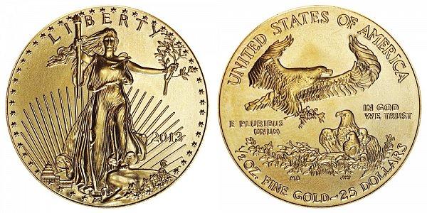 2013 Half Ounce American Gold Eagle - 1/2 oz Gold $25