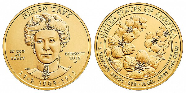 2013 Helen Taft First Spouse Gold Coin