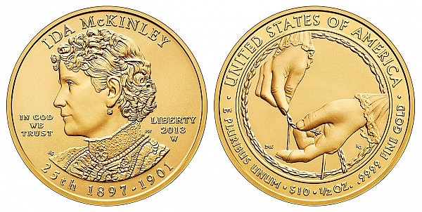 2013 Ida McKinley First Spouse Gold Coin