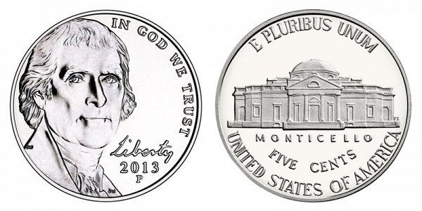 2013 P Jefferson Nickel