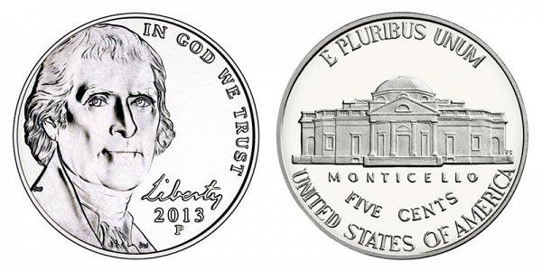 2013 P Jefferson Nickel