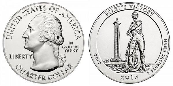 2013 Perrys Victory 5 Ounce Bullion Coin - 5 oz Silver