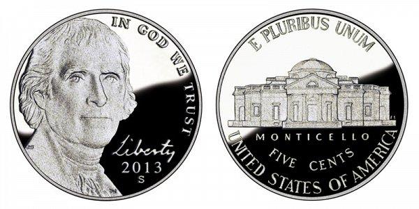 2013 S Jefferson Nickel Proof