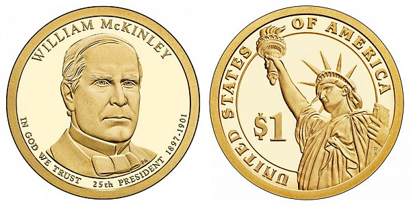 2013 S Proof William McKinley Presidential Dollar Coin
