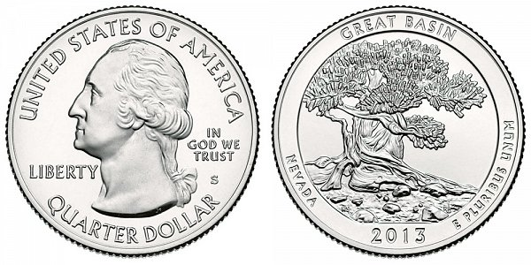 2013 S Uncirculated Great Basin National Park Quarter - Nevada