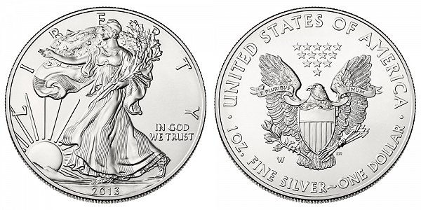 2013 W Burnished Uncirculated American Silver Eagle