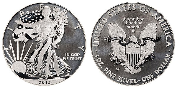 2013 W Enhanced Uncirculated American Silver Eagle