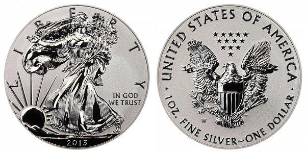 2013 W Reverse Proof American Silver Eagle
