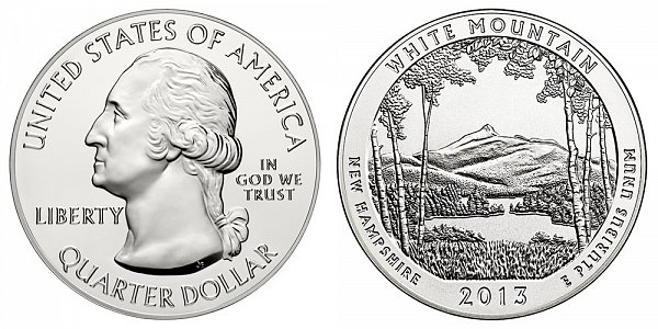 2013 White Mountain 5 Ounce Bullion Coin - 5 oz Silver