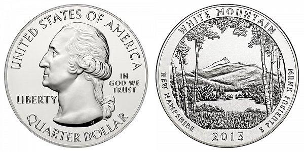 2013 White Mountain 5 Ounce Bullion Coin - 5 oz Silver