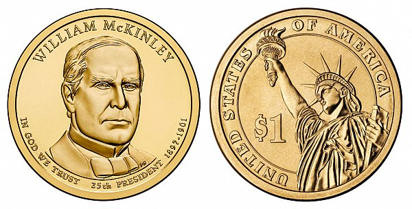 2013 D William McKinley Presidential Dollar Coin